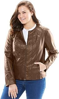 1af45b8d162 Amazon.com  Plus Size - Leather   Faux Leather   Coats