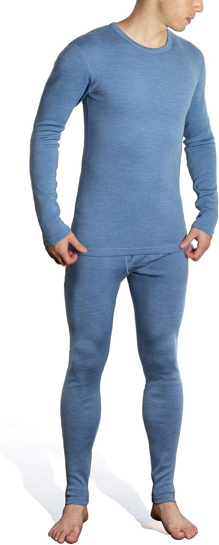 Sheep Run 100% High quality new Merino Wool Men's B Long Underwear Topics on TV Sleeve Thermal