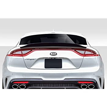 1 Piece Extreme Dimensions Duraflex Replacement for 2017-2019 Kia Stinger MSR V2 Rear Wing Spoiler