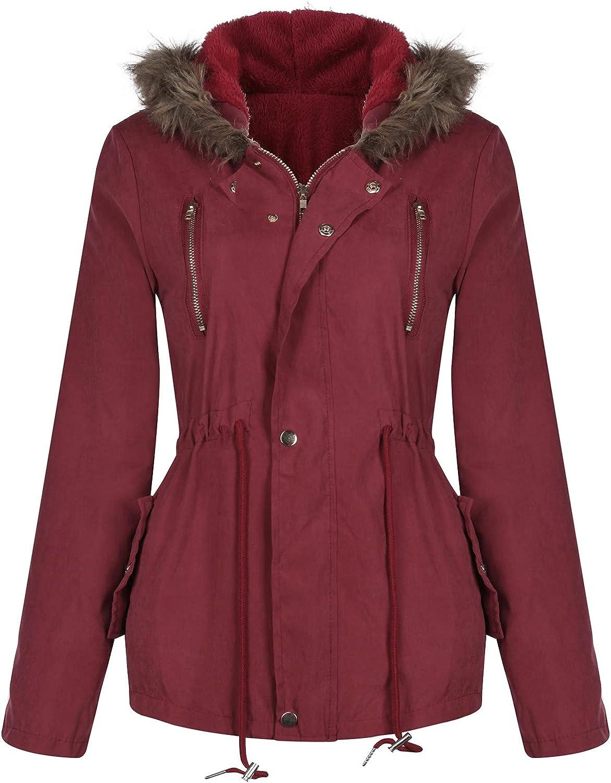 Superlatite FlekmanArt Women's Parka Large-scale sale Coat Classic Sleeve Winter Long Jacket