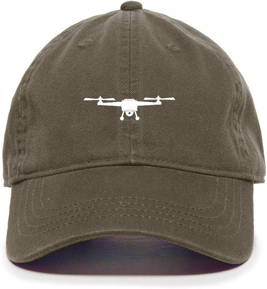 Tech Design Drone Symbol Baseball Cap Denver Mall Embroidered Adjusta Cotton New sales