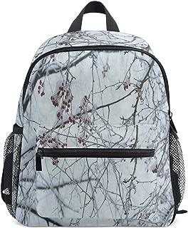 Mini Backpack Antique Winter Branch Tree Floral School Bag Daypack Lightweight