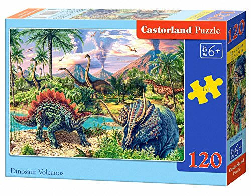 Castorland B-13234-1 Puzzle Dinosaur Volcanos, 120 Teile, bunt