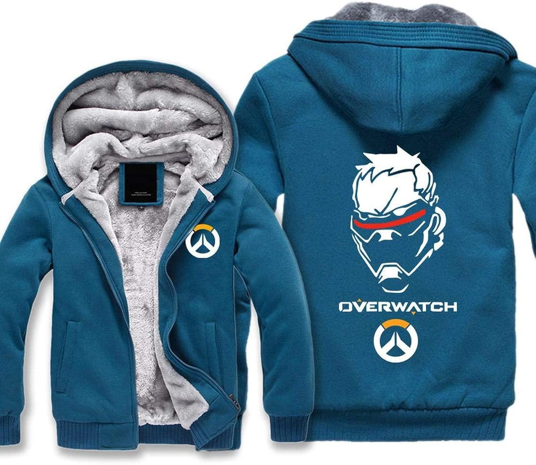 THICKEN Winter Hoodie Wacht 76 Soldaten Wacht Warme Jacken-Kleidung Plus Samt Starke Mit Kapuze Strickjacke Tops D- XL