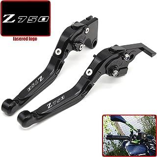 Color : Black LIWENCUI CNC Motorcycle Regolabile Pieghevole della Frizione del Freno a Leva manopole for Kawasaki Z750 2007-2012