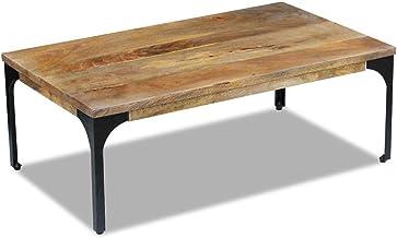 Generic * Wood Side Steel Frame od Side Coffee Table Mango Wood Mango Wood Side Steel Frame Furniture Industrial Industria...