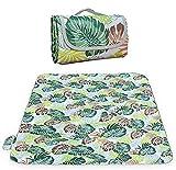 RXXR Manta de pícnic de 200 x 200 cm, manta de pícnic, impermeable, manta de playa, manta de camping con aislamiento térmico, tamaño familiar para picnics, comer al aire libre, camping, playa