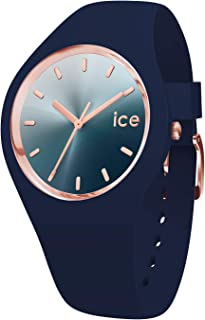 Ice-Watch - Ice Sunset Blue - Montre Bleue pour Femme avec Bracelet en Silicone - 015751 (Medium)
