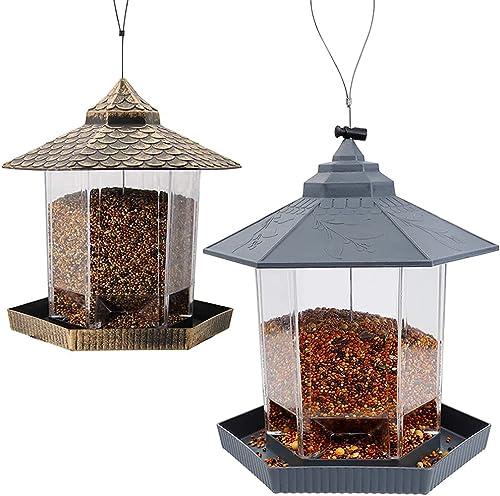 lowest Twinkle Star Wild Bird new arrival Feeder wholesale   Wild Bird Feeder, Grey online sale