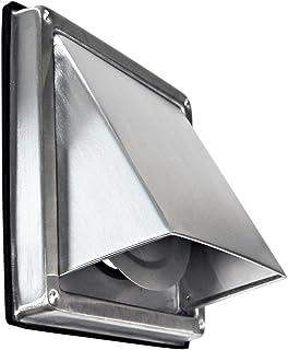 Edelstahl Ablufthaube Überduckklappe LG 5512 L Lüftungsgitter DN 125 int. Außenverschlussklappe