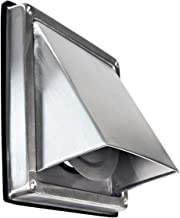 Edelstahl Ablufthaube Überduckklappe LG 5515 L Lüftungsgitter DN 150 int. Außenverschlussklappe