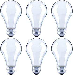 Asencia AN-03671 60 Watt Equivalent A19 Frosted All Glass Vintage Filament Dimmable LED Light Bulb, 6-Pack, Soft White (2700K)