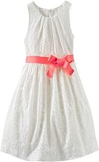 Little Girls' Fancy Free Lace Dress - 4 Kids Ivory