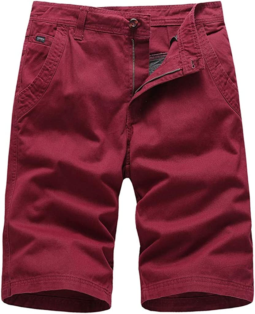 MODOQO Men's Cargo Shorts with Pocket Casual Patchwork Overalls Sport Shorts Pants