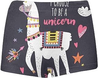 Boys' Llama Alpaca in Unicorn Horn with Funny Boxer Brief Underwear(5T-2XL)