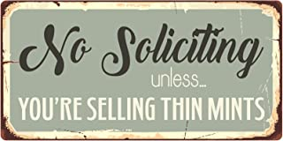 StickerPirate 979HS No Soliciting Unless You're Selling Thin Mints 5