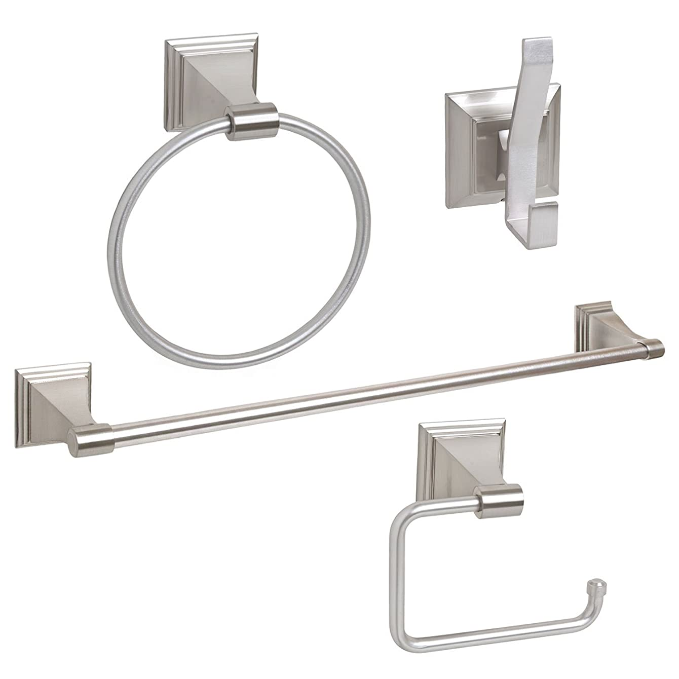 4-Piece Bathroom Hardware Accessory Set With 24