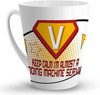Makoroni - KEEP CALM I'M ALMOST A VENDING MACHINE SERVICER Career - 12 Oz. Unique LATTE MUG, Coffee Cup