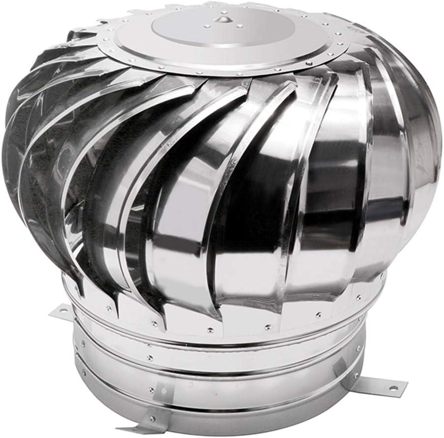 LTLCBB Sombrero Extractor Giratorio, Ventilador La Turbina Soplador Acero Inoxidable Al Aire Libre Viento Gorro De Chimenea Conducto De Aire Ahorro De Energia Buhardilla Granja La Fábrica,500mm