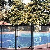 VEVOR Abnehmbarer Poolschutzaun Tür, 76 X 122 cm, manuelle Sperre, schwarz, Kindersicher mit Aluminiumfußrohr, geeignet für Schwimmbad-Zaun