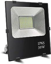 Foco led 50w, BeiLan LED Foco proyector exterior Super brillante 100 LED 6000K Luz de inundación IP65 Resistente al agua para el jardín Jardín Patio (sin enchufe)