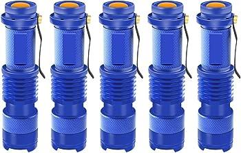 Enjoydeal 5 Pack LED Tactical Flashlight