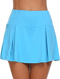 Guteer Women`s Active Skirt Athletic Tennis Skort Pleated Stretchy Sports Skirt Training Running Workout Golf