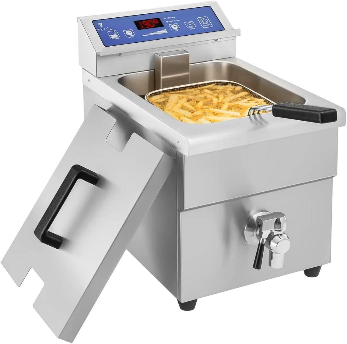 Royal Catering - RCIF-10EB - Freidora de inducción - 1x 10 litros - 60 a 190°C