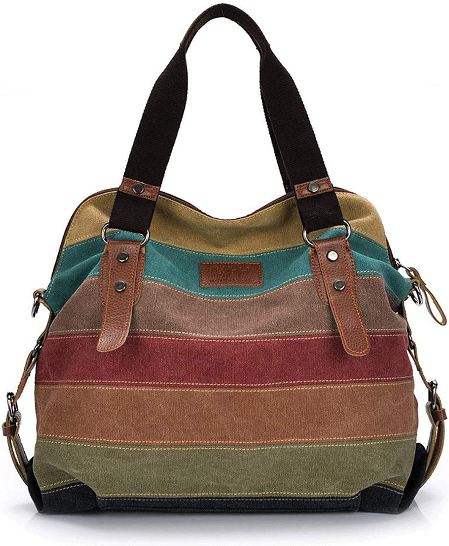 YKXIAOYU Handbag Casual Fashion Single Shoulder Slant Spanning Large Capacity Women's Bag color bar Splicing