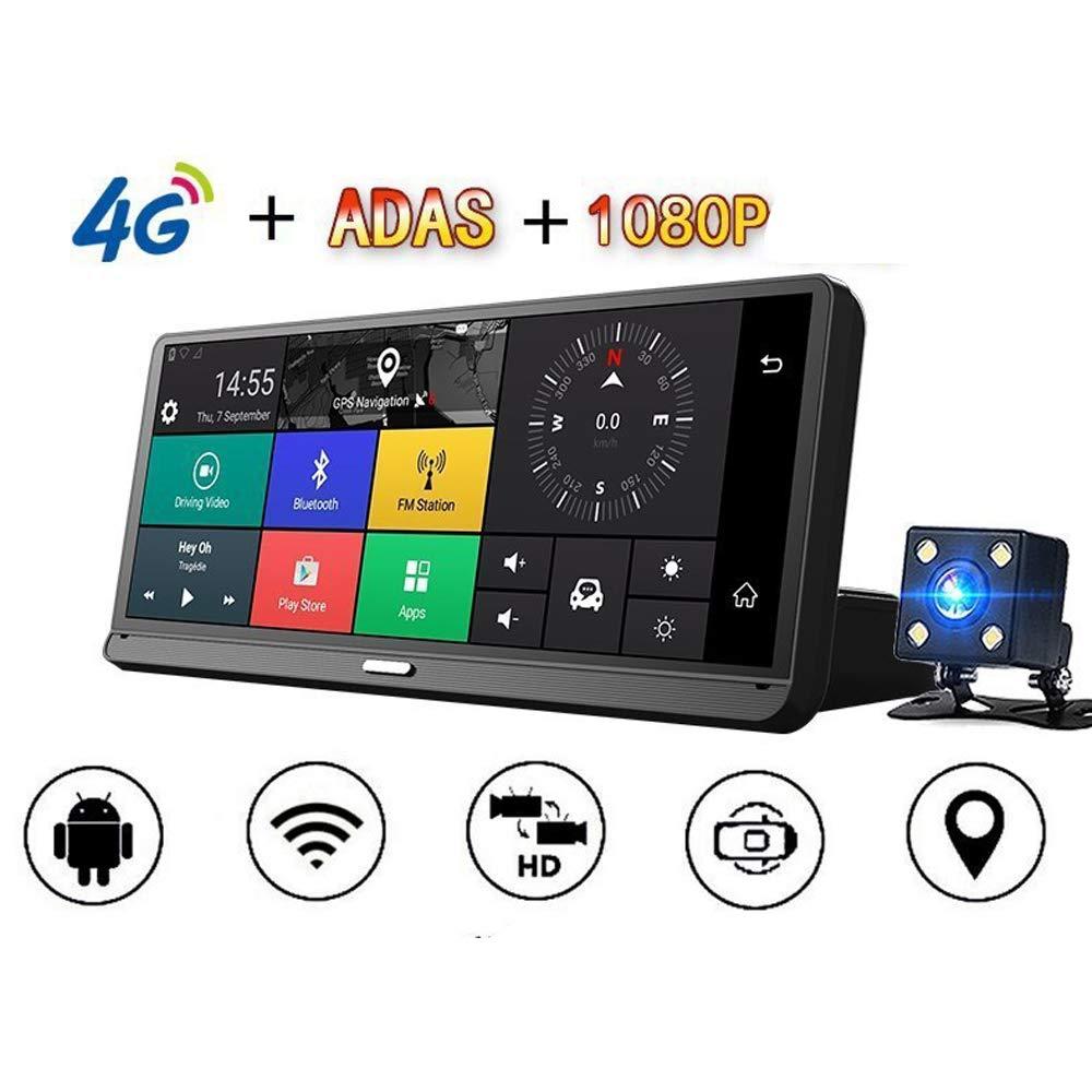 TONGTONG 10 Pulgadas IPS Pantalla táctil 4G Full HD Grabador de Video HD para Coche con Doble Lente Navegador GPS con grabadora de conducción Delantera y Trasera: Amazon.es: Hogar