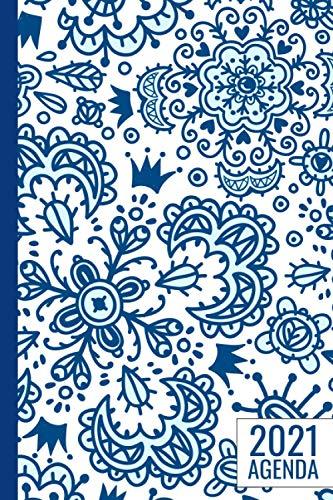 Agenda 2021: floral Agenda semana vista | una Semana en dos Páginas | Calendario Planificador semanal y mensual | idea de regalos originales enfermeria colega