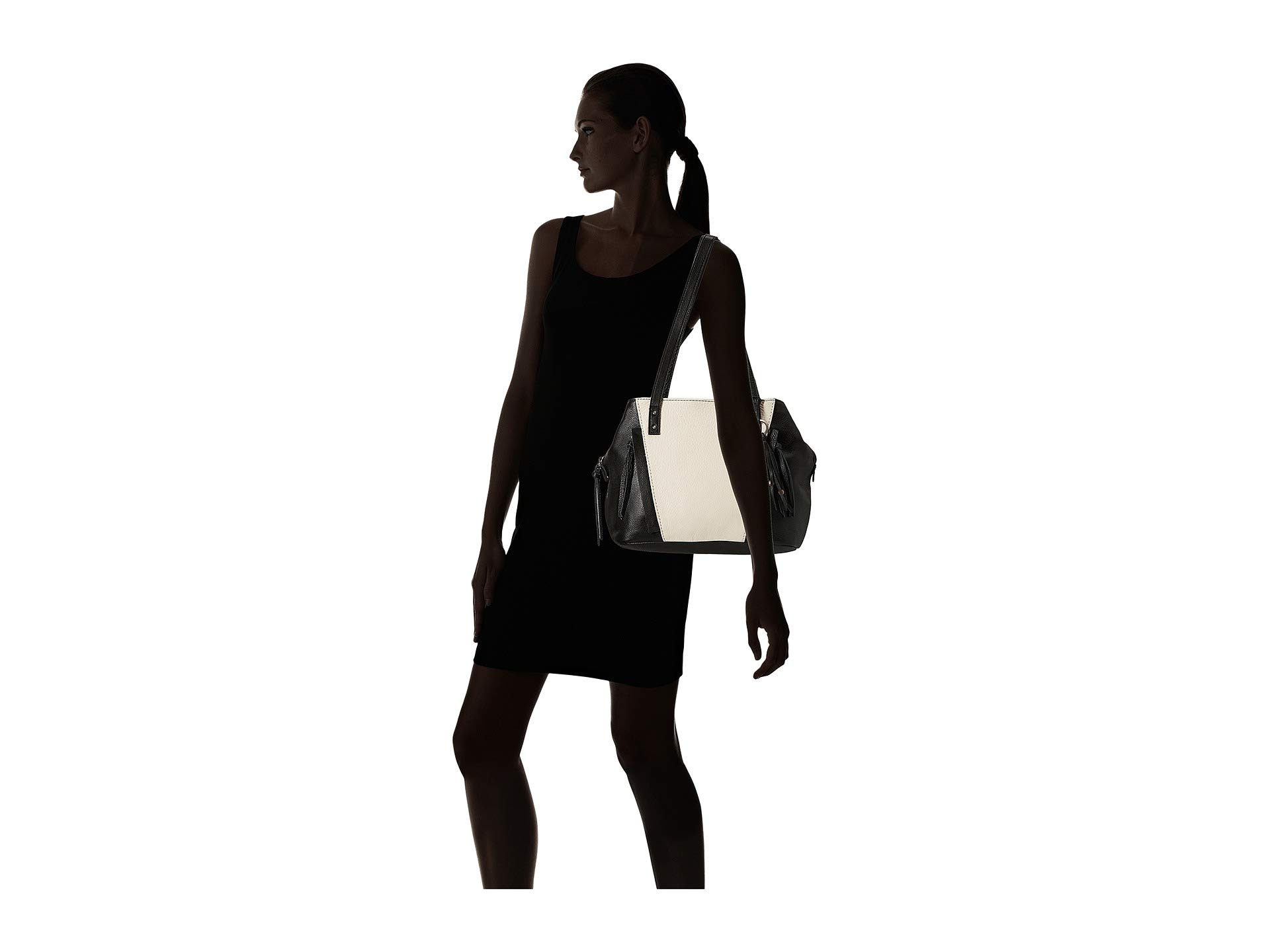 Sak Paramount Black The white Block Satchel 6PwTKxd5q