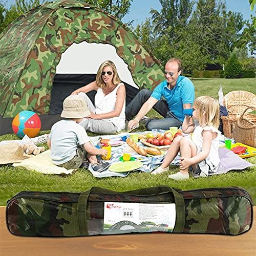 A prueba de humedad impermeable tienda de campaña deportes al aire libre pesca anti-UV tienda de turismo rápidamente abierto picnic playa caza con camuflaje