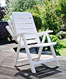 2 Kettler Nizza Gartenstuhl in weiß Klappsessel Gartenmöbel Sessel