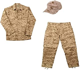 Kids Desert Digital Camo 3pc Marines Soldier Military Uniform