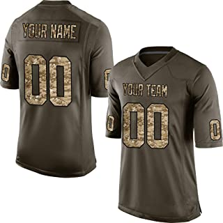 Custom Camo Salute to Service Replica Football Jersey Embroidered Team Name and Your Numbers for Veterans/Independence Day