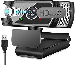 Full HD1080P Webcam mit Mikrofon, Automatischer Lichtkorrektur, Neefeaer USB PC Webcam mit Abdeckung,110° Weitwinkel, PC K...