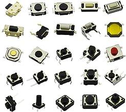 DaFuRui 250pcs 25 Values Tactile Push Button Switch Micro Momentary Tact Assortment Kit
