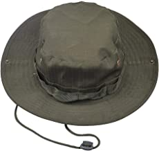 LUOEM Outdoor Sunshade Fisherman Fishing Hat with String Brim for Men and Women (Army Green)