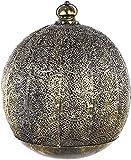 habeig Orientalische Laterne #423 aus Metall 39 x 33 cm groß   Arabische Gartenlaterne für draußen, Innen als Bodenlaterne   Gartenwindlicht Windlicht hängend oder zum Hinstellen