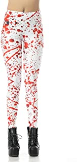 MS Mouse Womens Halloween Costume Printed Stretch Footless Leggings Pants