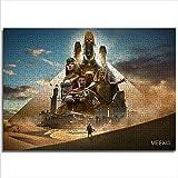 Puzzle Set 1000 Piezas Assassin'S Creed: Origins HD Puzzle Game Brain Free Time 26x38