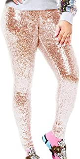 desolateness Womens Shiny Sequin Leggings Pants Sexy Clubwear Trouser