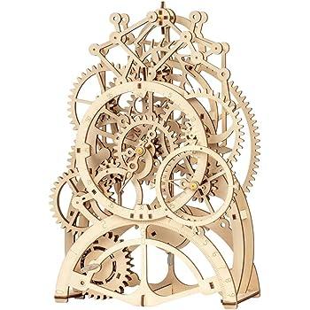 Robotime 3D立体パズル DIY組立 ギア 宝箱 パーペチュアルカレンダー クラフト 123PCS 子供 おもちゃ おもちゃ オモチャ 知育玩具 男の子 女の子 大人 入園祝い 新年 ギフト 誕生日 クリスマス プレゼント 贈り物(振り子)