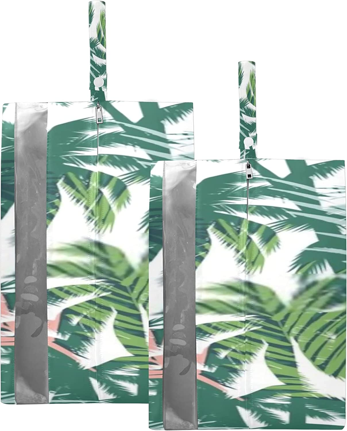 Waterproof Travel Shoe Bag Pack Summer Seattle Mall Palm Zipper Cash special price Tropical