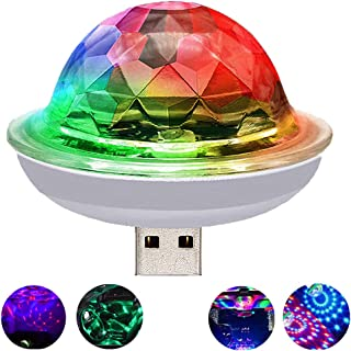 USB Mini Voice Control Party Lights, Disco Ball Lights, Mini Portable Strobe Lights, LED Car USB Atmosphere Lights, Suitable for Christmas/Halloween/Home Interior, Etc. (White)