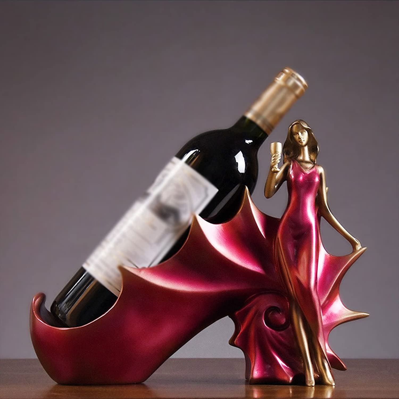 Wine Rack Wine Rack, Creative Crafts, Fashion Wine Rack,Size  30 cm Long 23 cm High (color   RED)