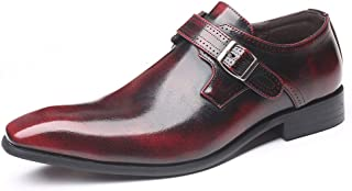 Men's Formal Comfortable Dress Shoes Genuine Leathers Shoes,Pointed Toe Slip-On Lazy Luster Office Dress Shoes