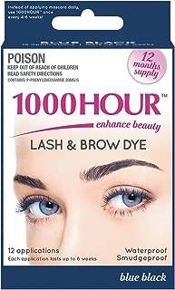 1000 Hour Eyelash & Brow Dye / Tint Kit Permanent Mascara (Blue Black)