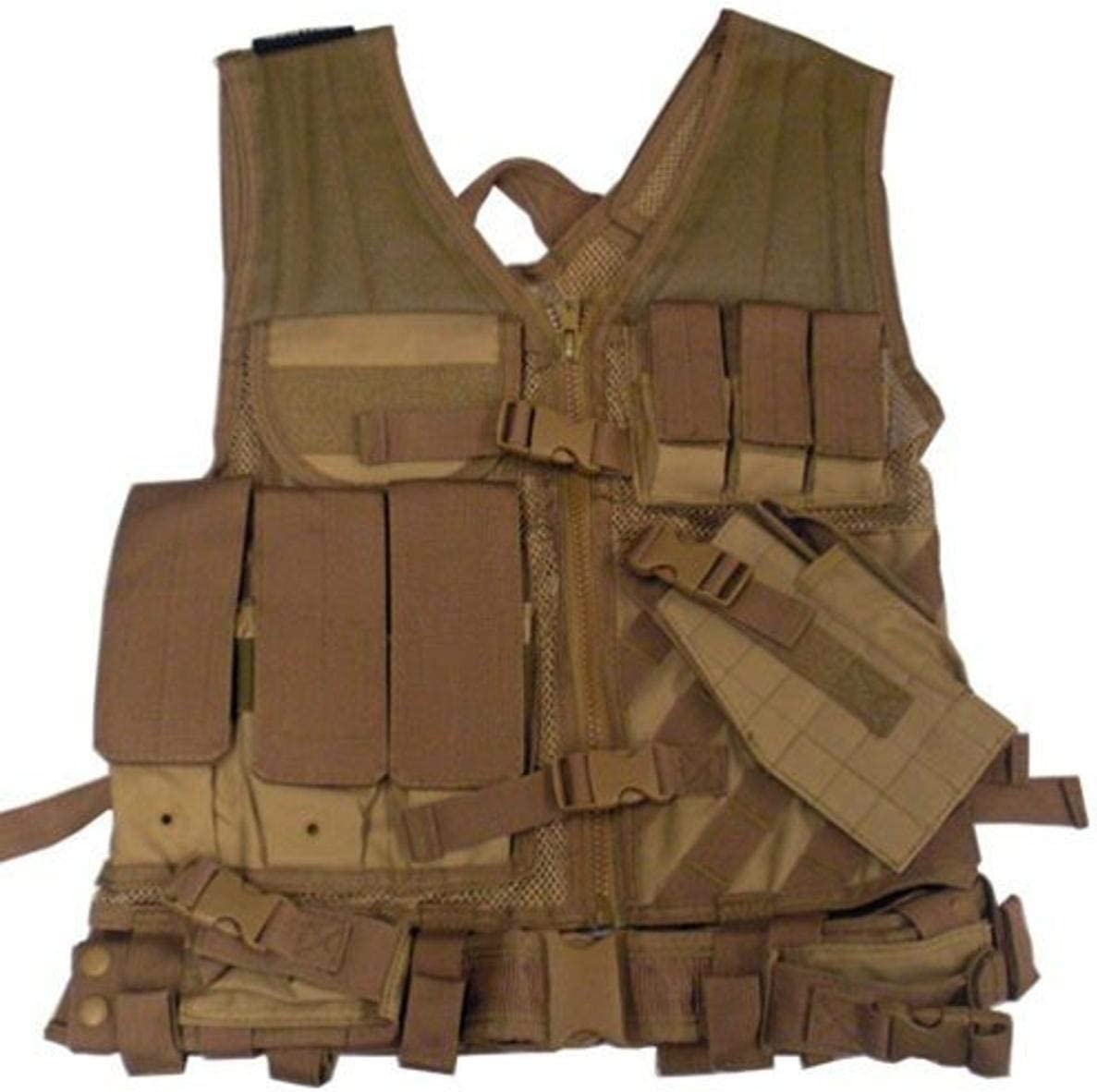 VISM Excellent Free shipping anywhere in the nation by NcStar Tactical Tan XX-Large Vest CTVL2916T
